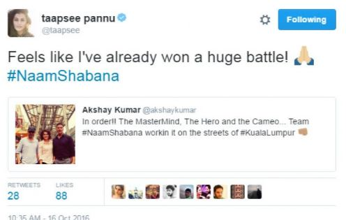 Tapsee Pannu Tweeted about naam shaban